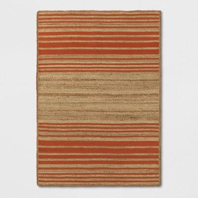 Orange Striped Braided Jute Rug - Opalhouse™