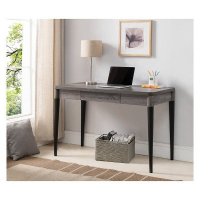 Ordinaire Worthington Contemporary Office Desk Distressed Gray   HOMES: Inside + Out  : Target