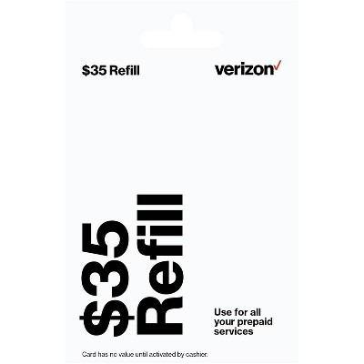 Verizon Wireless Prepaid Refill Card (email delivery) - $35