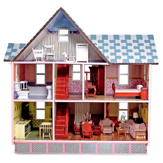 Melissa & Doug Classic Heirloom Victorian Wooden Dollhouse image number null