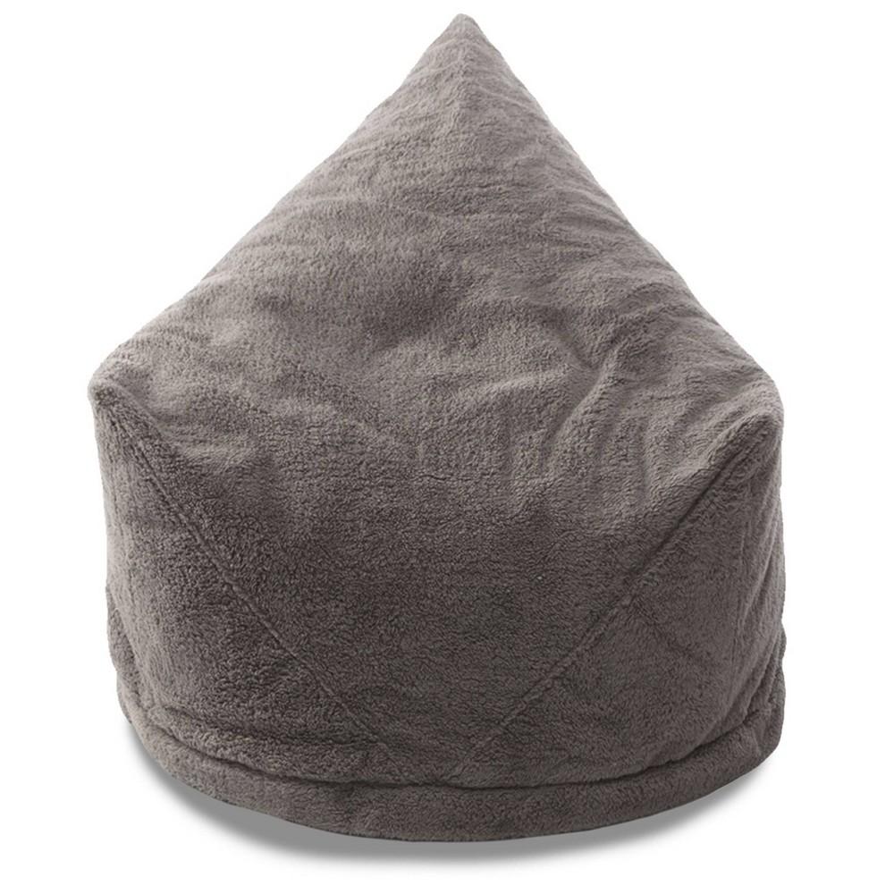 Charlotte Sherpa Storage Lounger Metallic Charcoal (Grey) - Mimish