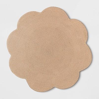 """54"""" Braided Scallop Rug - Pillowfort™"""