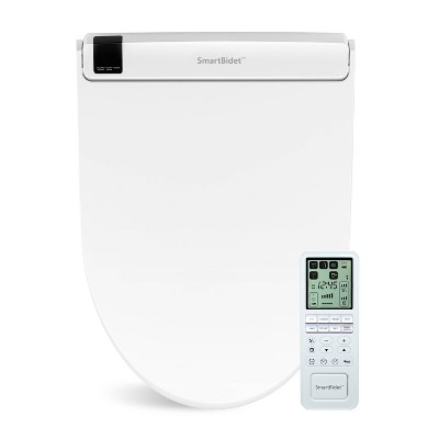 SB-3000 Electric Bidet Toilet Seat with Unlimited Heated Water and LED Night Light for Elongated Toilets White - SmartBidet