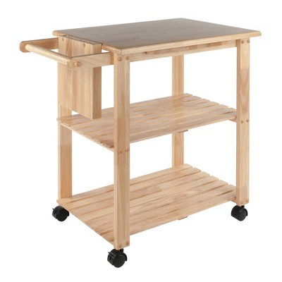 Utility Cart with Cutting Board Wood/Natural - Winsome
