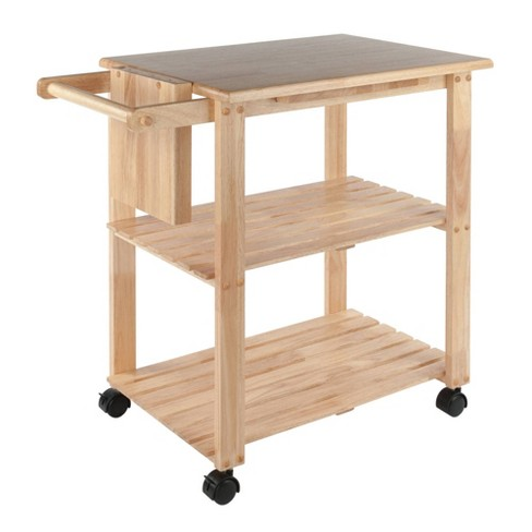 Utility Cart with Cutting Board Wood/Natural - Winsome - image 1 of 4