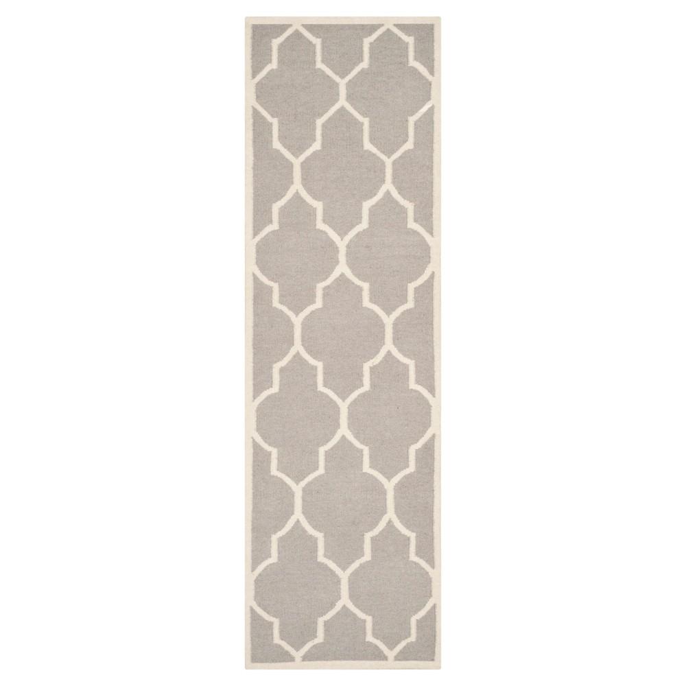 Best Alarice Dhurry Rug - Dark Gray Ivory - (26x6) - Safavieh