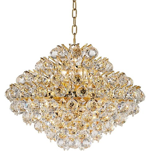 Vienna Full Spectrum Gold Crystal Pendant Chandelier 20 Wide 16 Light Fixture For Dining Room House Foyer Kitchen Island Entryway Target