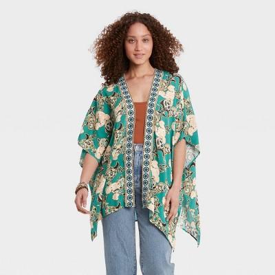 Women's Jacket - Knox Rose™ Green Floral