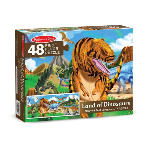 Melissa And Doug Land Of Dinosaurs Floor Puzzle 48pc - image 1 of 4