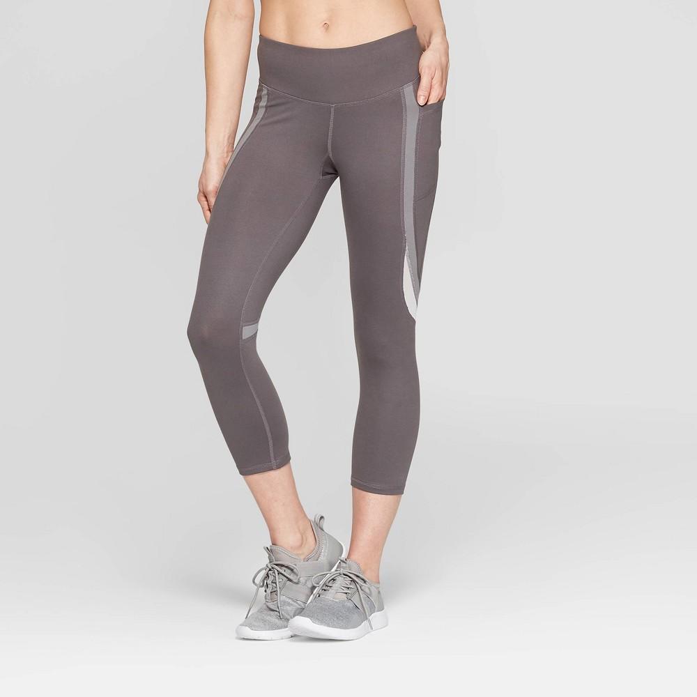 Women's Studio Mid-Rise Capri Leggings - C9 Champion Echo Gray M