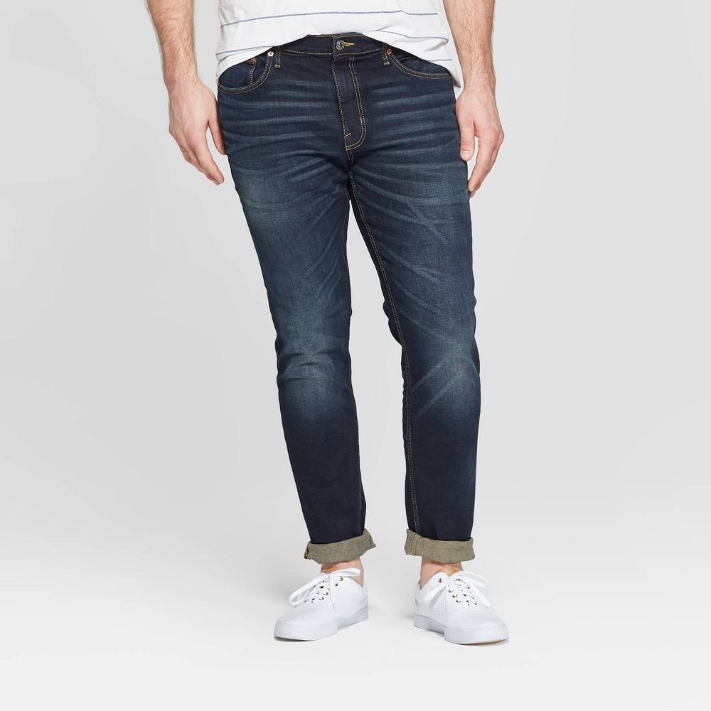 Men's Tall 36 Skinny Fit Jeans - Goodfellow & Co Dark Gray 36x36
