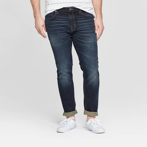 Men's Tall Skinny Fit Jeans - Goodfellow & Co™ Dark Gray - image 1 of 2