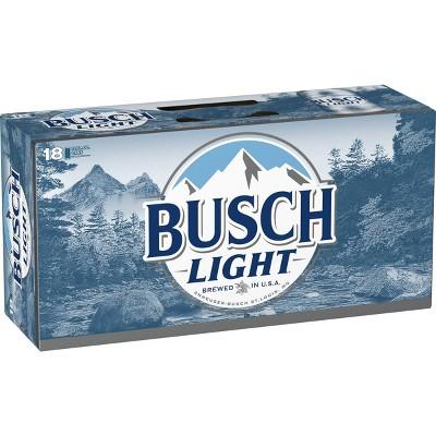 Busch Light Beer - 18pk/12 fl oz Cans