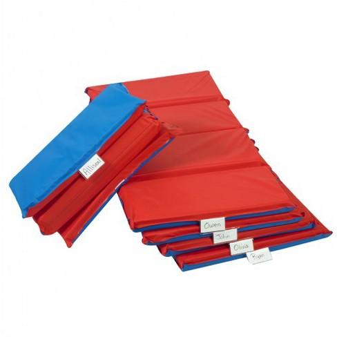"Children's Factory 4-Fold 2"" Germ Guard Folding Rest Mat - Red/Blue  - Set of 5 - image 1 of 1"