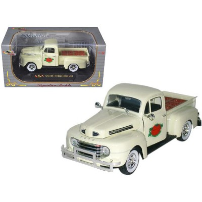 1949 Ford F-1 Delivery Pickup Truck Cream with Tomato Crates 1/32 Diecast Model Car by Signature Models