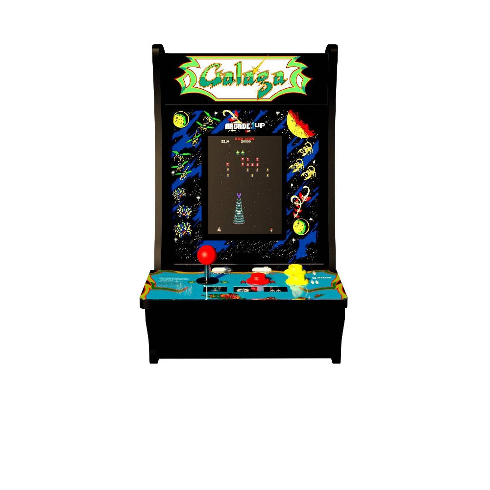 Arcade1Up Galaga Galaxian CounterCade Arcade1Up Galaga Galaxian CounterCade Color: Black. Gender: unisex.
