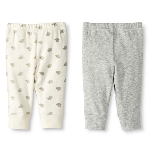 Baby 2 Pack Pants Gray - Cherokee® - image 1 of 1