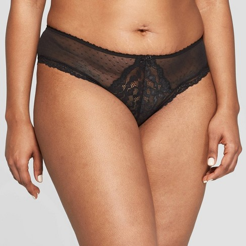 Women's Lace and Dot Mesh Cheeky - Auden™ - image 1 of 2