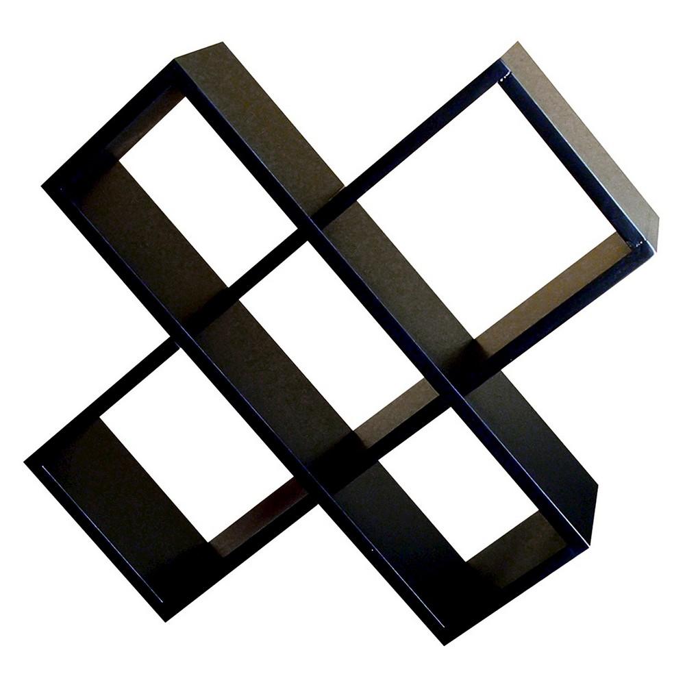 17.5 Crisscross Media Wall Storage Black - Ore International