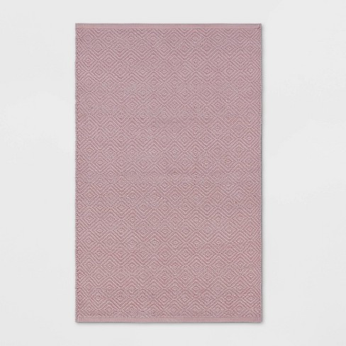 "2'6""x4' Chenille Lurex Rug Pink - Pillowfort™ - image 1 of 3"