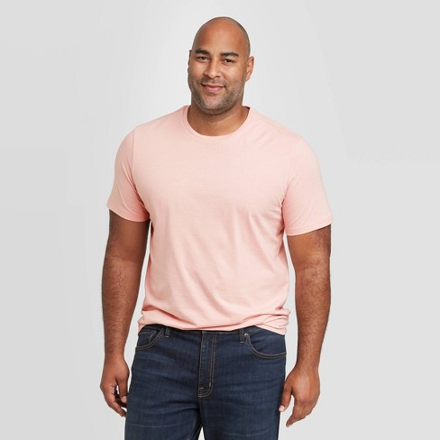 Men's Big & Tall Standard Fit Crew Neck T-Shirt - Goodfellow & Co™ Pink - image 1 of 3