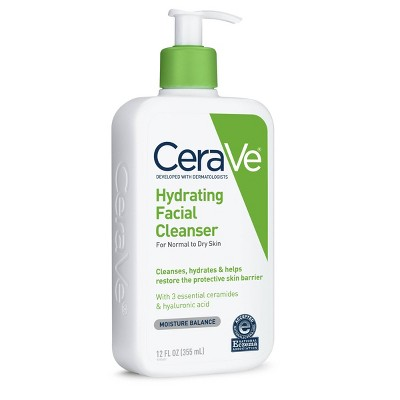 CeraVe Hydrating Facial Cleanser For Normal To Dry Skin Fragrance Free - 12oz