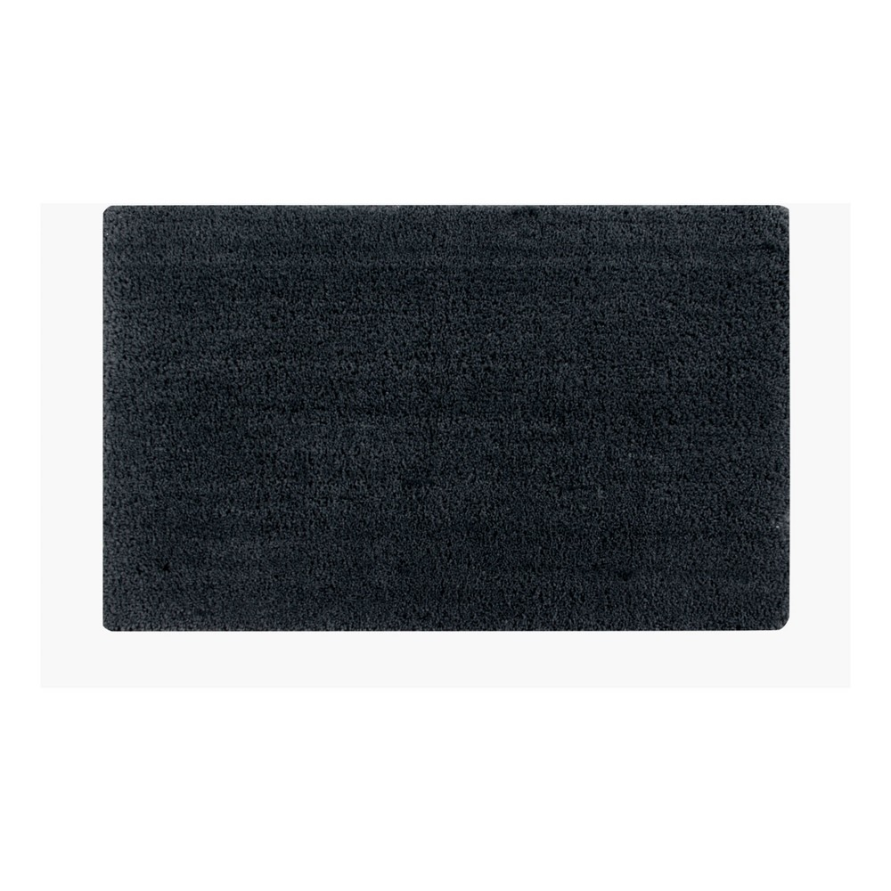 "Image of ""21""""x34"""" Micro Plush Bath Rug Charcoal - Better Trends"""
