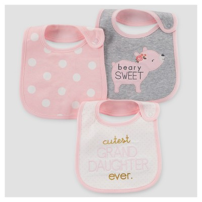 Baby Girls' 3pk Polka Dot Bib - Just One You™ Made by Carter's® Pink