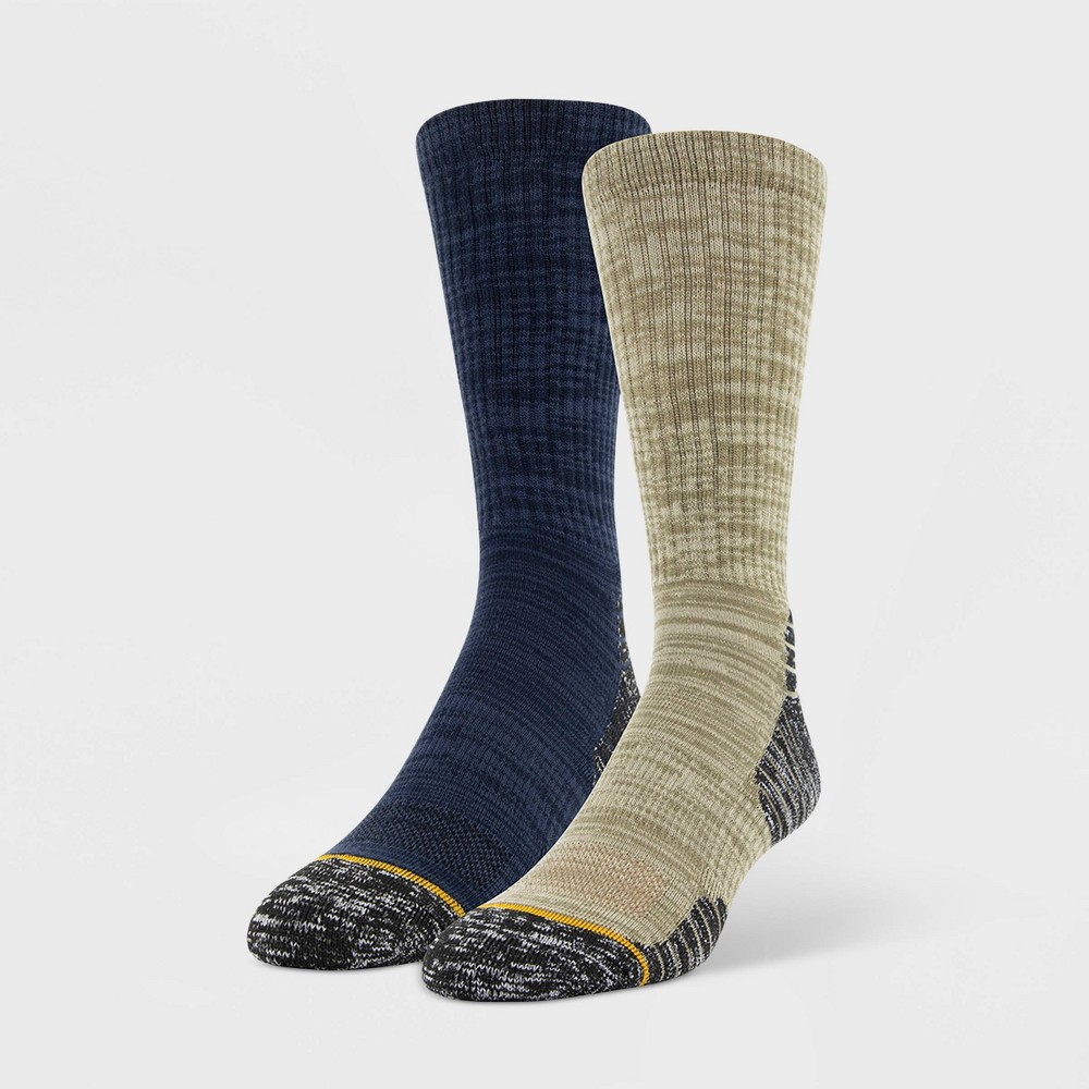 Image of Signature Gold by Goldtoe Men's 2pk Urban Hiker Mid-Weight Crew Socks - Taupe 6-12, Brown