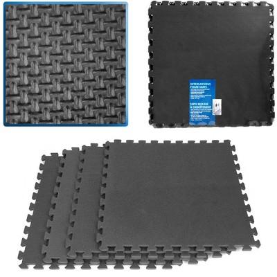 Stalwart Ultimate Comfort Black Foam Flooring – 4pc