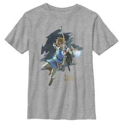 Boy's Nintendo Zelda Link Bow and Arrow Jump T-Shirt