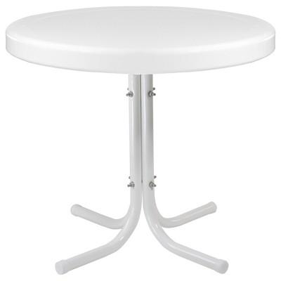 "Northlight 22"" Outdoor Retro Tulip Side Table, White"