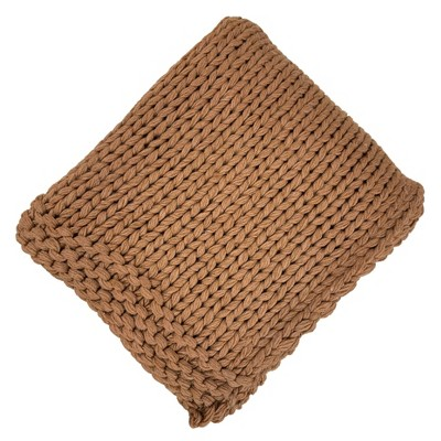 Chunky Knit Throw Blanket Bronze - Threshold™