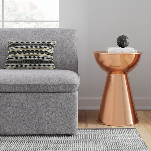 Manila Accent Table Copper Drum Project Target - Copper drum end table
