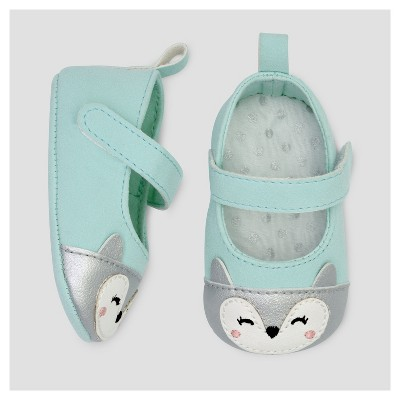 Baby Girls' Owl Mary Jane - Just One You™ Made by Carter's® Mint NB