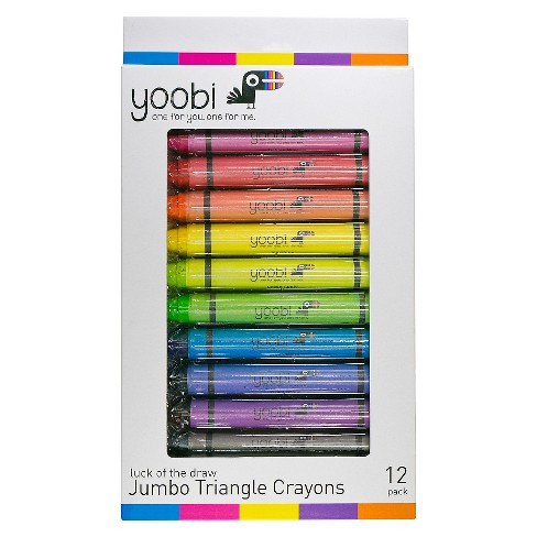 Yoobi™ Jumbo Triangle Crayons - Multicolor, 12 Pack - image 1 of 2