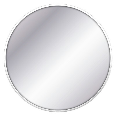 "28"" Round Decorative Wall Mirror White - Project 62™"
