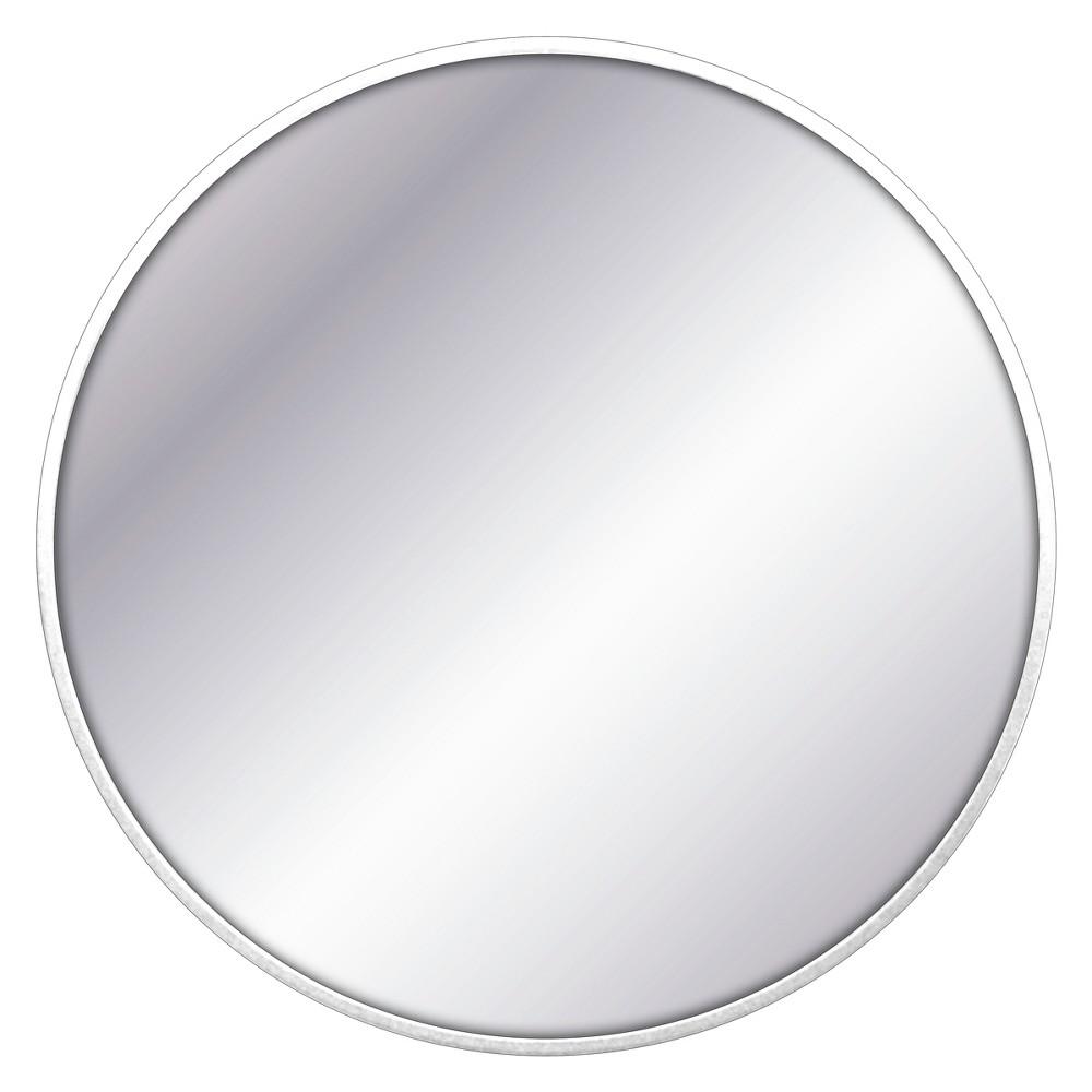 28 34 Round Decorative Wall Mirror White Project 62 8482