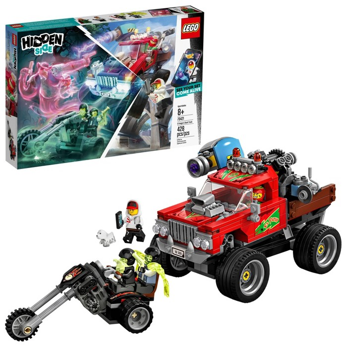 LEGO Hidden Side El Fuego's Stunt Truck 70421 Toy Truck Augmented Reality (AR) Building Set 428pc - image 1 of 7