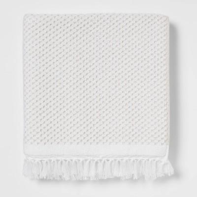 Knotted Fringe Bath Towel White - Threshold™