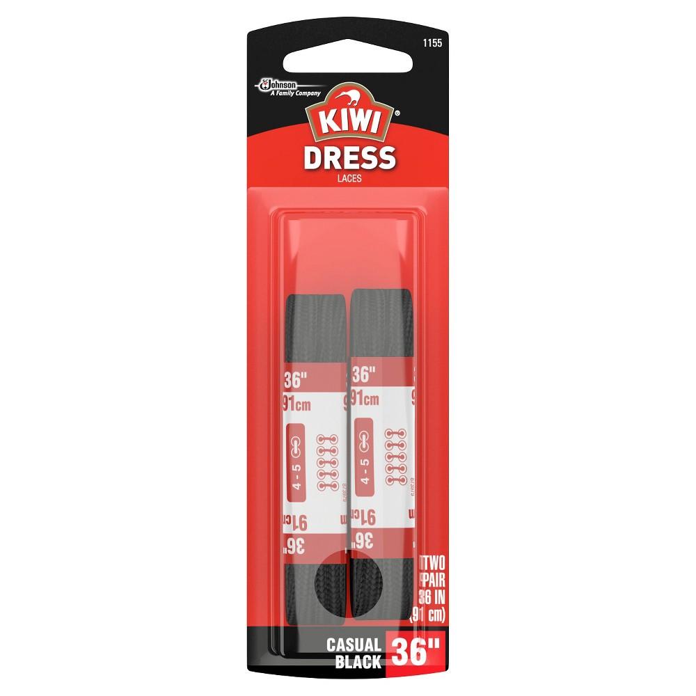 Kiwi Dress Round Laces Black 36 2 pairs, Adult Unisex