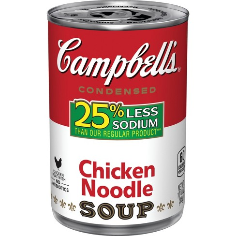 Campbell's® Low Sodium Condensed Chicken Noodle Soup 10.75 oz - image 1 of 5