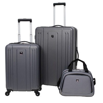 Skyline 3pc Hardside Luggage Set - Gray