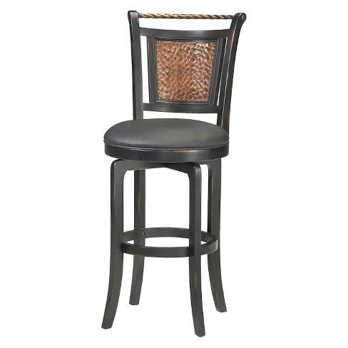 "Norwood Swivel 30.5"" Barstool Wood/Black - Hillsdale Furniture - image 1 of 1"