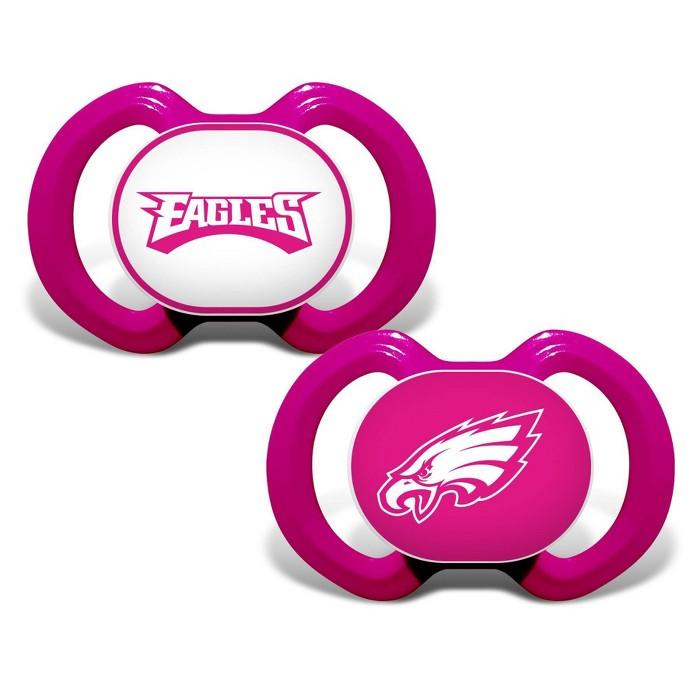 NFL Philadelphia Eagles Pink Pacifiers 2pk - image 1 of 1