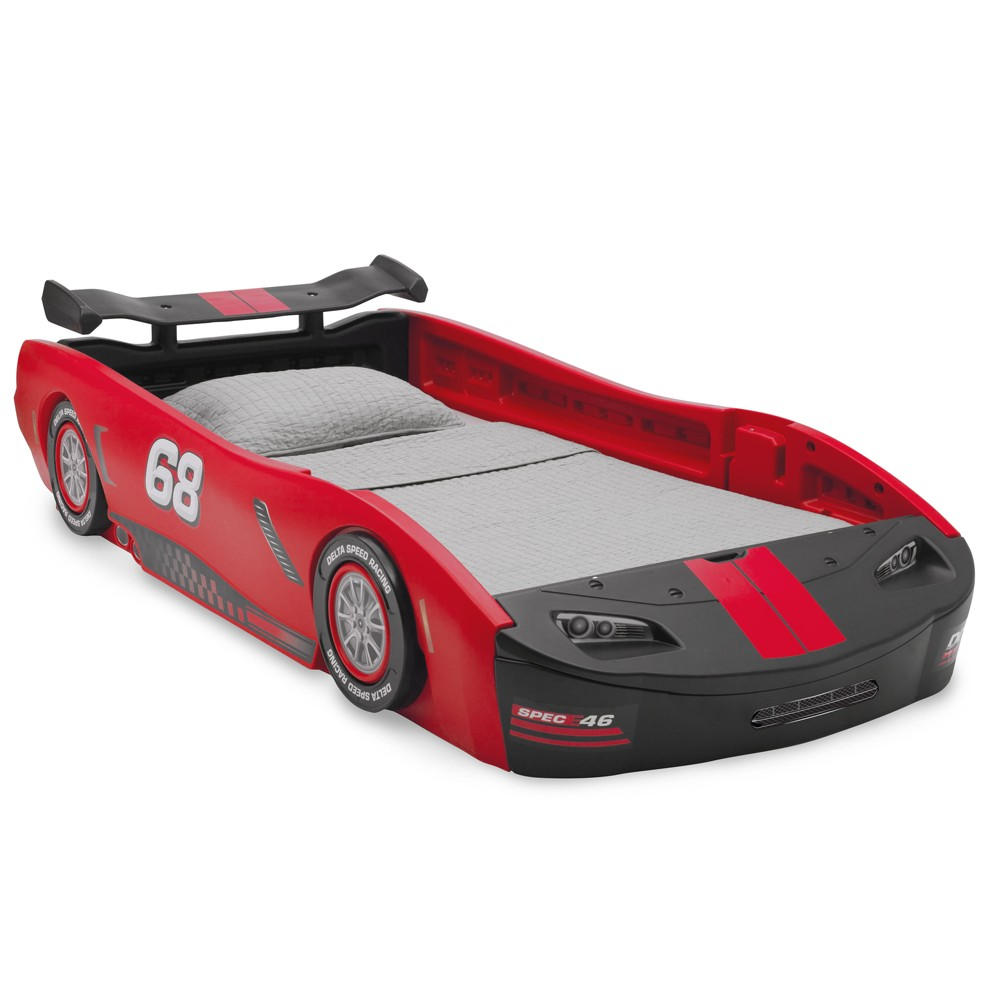 Turbo Race Car Twin Bed Red - Delta Children
