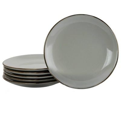 6pc Stoneware Solid Slate Serving Set Gray - Elama