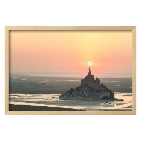 Mont Saint Michel Target by Philippe Manguin Framed Photographic Print - Art.com - image 1 of 3