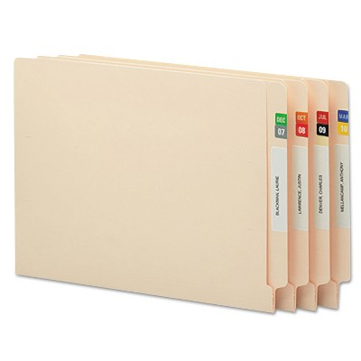 Smead Monthly End Tab File Folder Labels Assorted Colors 250 per Month 3000/Box 67450