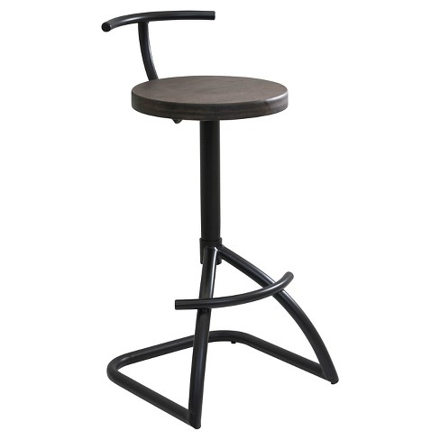 "Mantis Industrial 29.5"" Barstool - Black & Espresso - LumiSource - image 1 of 6"